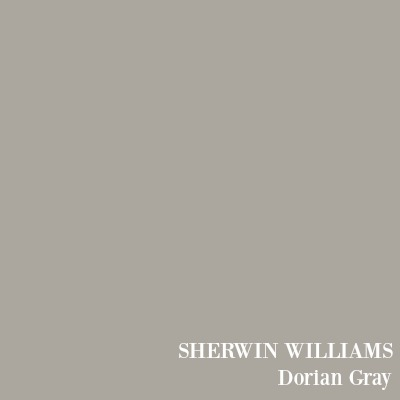 Sherwin Williams Dorian Gray paint color. #bestgray #paintcolors #interiordesign #doriangray