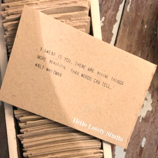 Inspirational quote on kraft paper cards to motivate, encourage, and uplift - Hello Lovely Studio. COME SEE THESE 33 Gorgeous Inspirational Quotes to Encourage, Motivational Messages & Affirmation Cards to Uplift!