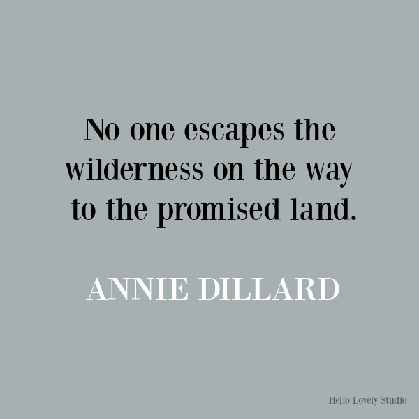 Annie Dillard inspirational quote on Hello Lovely Studio. #quotes #anniedillard #personalgrowth #lifequotes