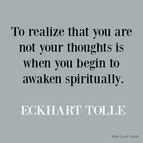 Eckhart Tolle inspirational quote about spiritual journey. #eckharttolle #quotes #inspirationalquotes #spirituality #faithquotes #spiritualjourney