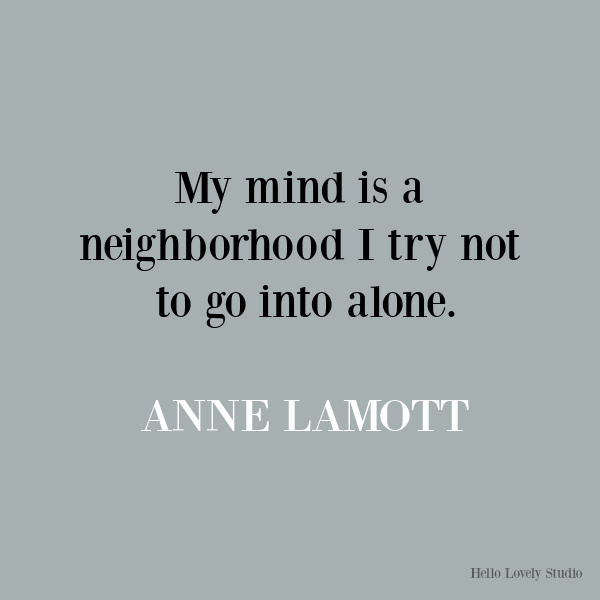 Anne Lamott funny inspirational quote on Hello Lovely Studio. #quotes #inspirationalquotes #annelamott #lifequotes #encouragementquotes #humorquotes