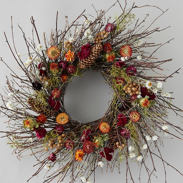 Preserved birch wreath from Terrain