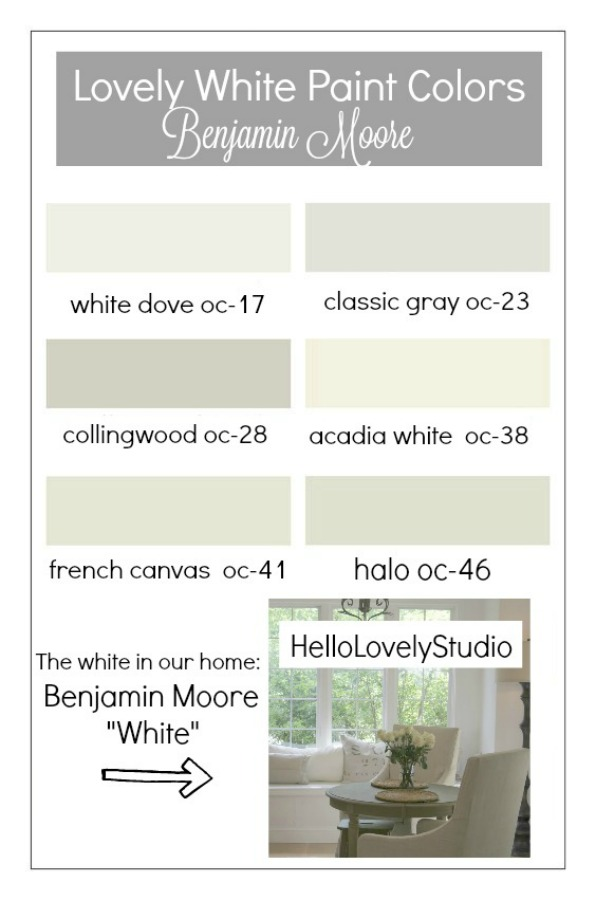 Favorite neutral paint colors from Hello Lovely Studio. Time to Paint Your Walls? Come discover a Refresher to Demystify the Process!#paintcolors #neutralpaint #interiordesign #whitepaint