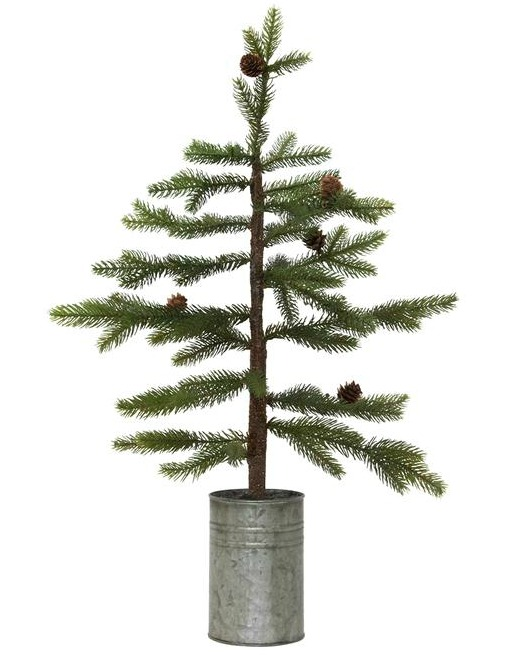 Faux potted mini tree is a sweet lil' holiday hug for the tabletop. #christmasdecor #fauxtree #tabletop