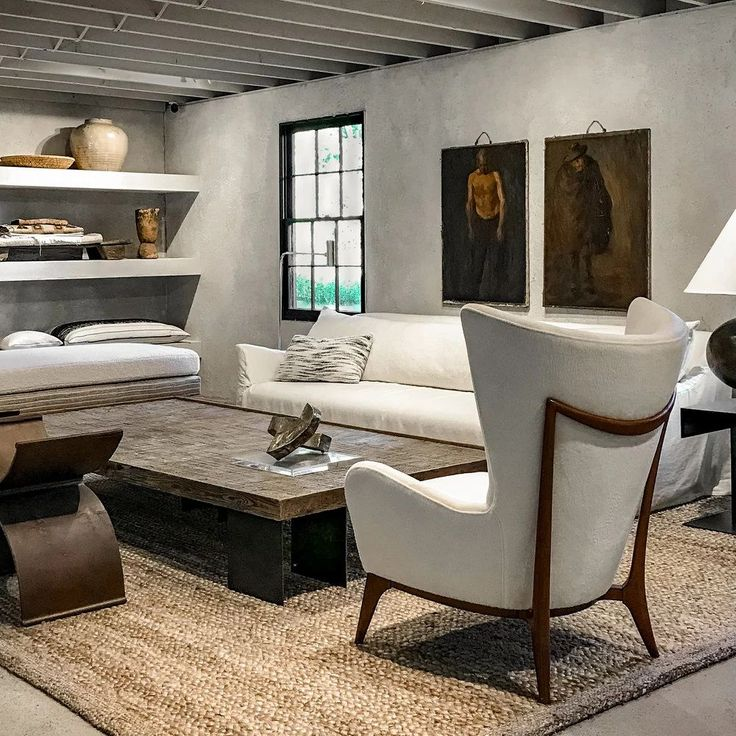 Michael Del Piero Good Design Hamptons shop in the barn - a gorgeous global mix of modern rustic luxe for your interiors. #michaeldelpiero #interiordesign #modernrustic #livingroom #globalrustic #sophisticateddecor