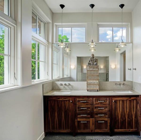 Modern Belgian design in a minimal zen bathroom with freestanding tub. #belgianstyle #bathroomdesign #minimal #zen