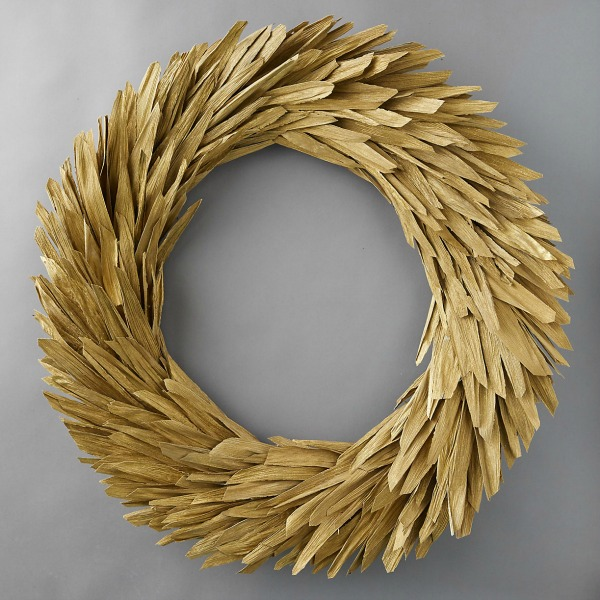 Preserved corn husk wreath from Terrain