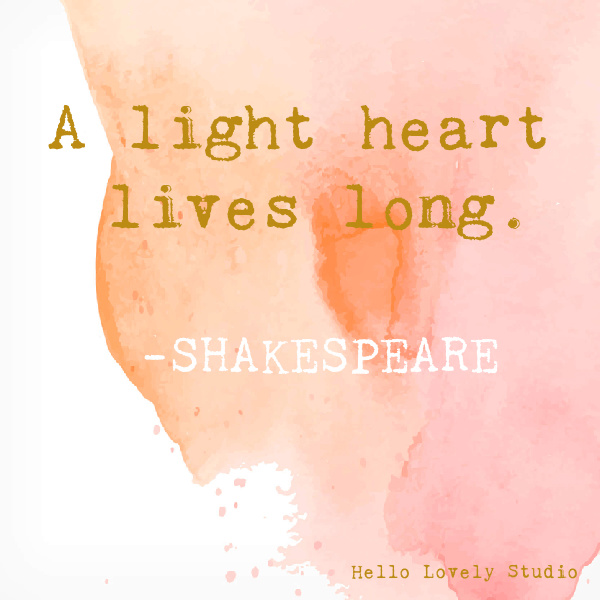 Shakespeare whimsical inspirational quote on Hello Lovely Studio on a watercolor background. #whimsicalquotes #inspirationalquotes #hellolovelystudio #shakespeare