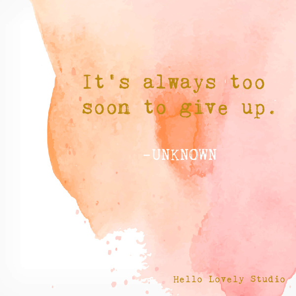Encouraging whimsical inspirational quote on Hello Lovely Studio on a watercolor background. #whimsicalquotes #inspirationalquotes #hellolovelystudio #encouragementquote #struggle #perseverance