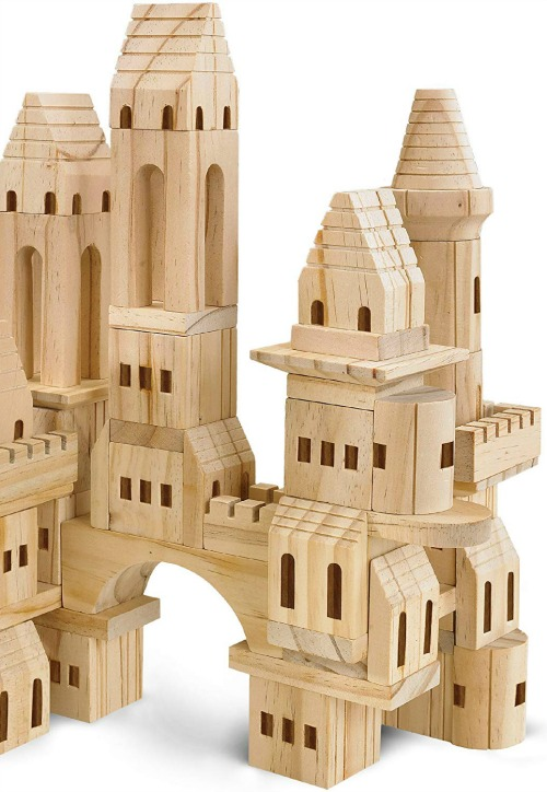 FAO Schwarz Wooden Castle Building Blocks - Come discover Holiday Gift Guides from 7 of Your Favorite Bloggers!