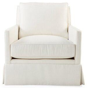White Linen Club Chair