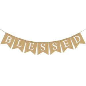 Blessed Burlap Banner