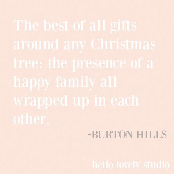 Inspirational holiday and Christmas quote on a pink background - Hello Lovely Studio. #inspirationalquote #christmas #holidayquote