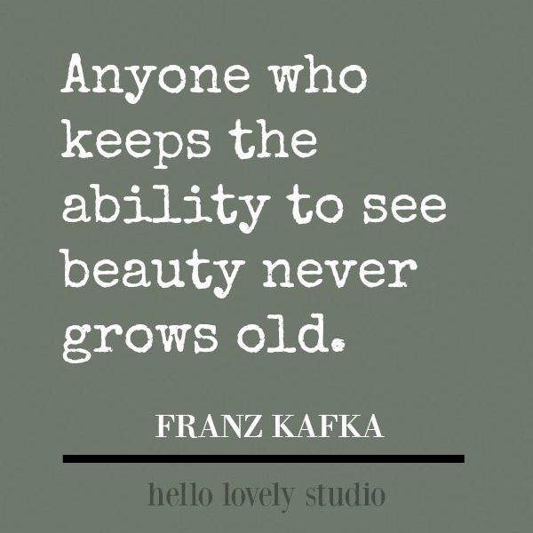 Inspirational quote about beauty from Franz Kafka. #kafka #inspirationalquote #quotes