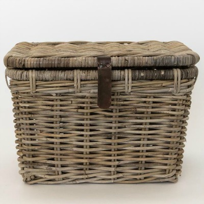 French Rattan Trunk Basket McGee