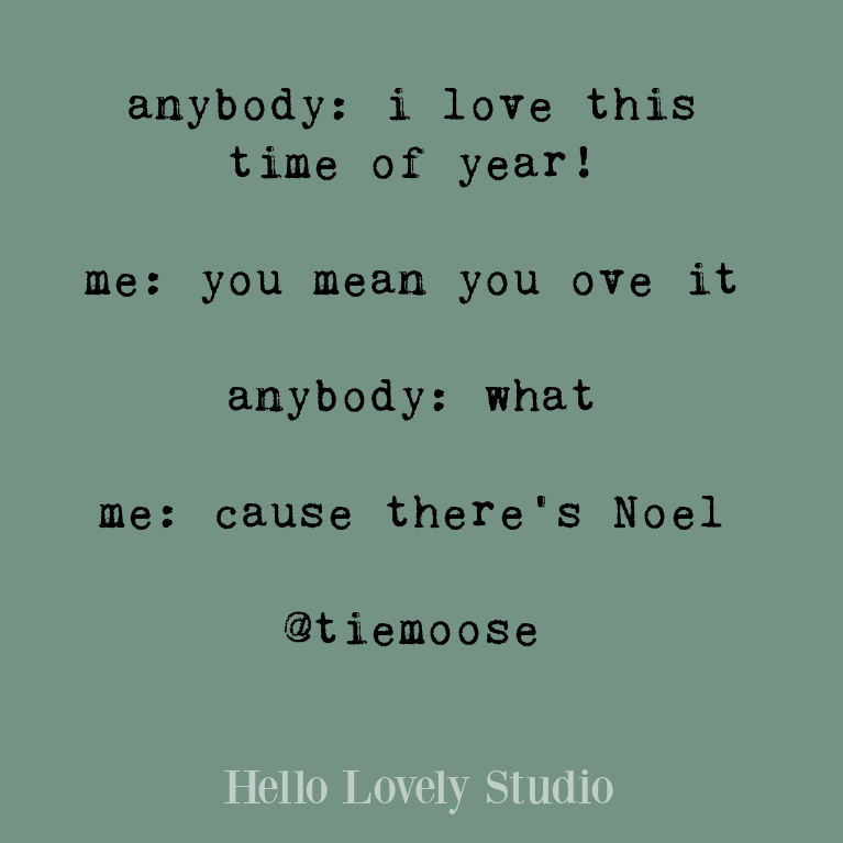 Funny Christmas quote on Hello Lovely Studio. #christmashumor #holidayquote #funnyquotes #humorquotes