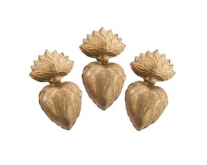 Gold Sacred Milagro Hearts
