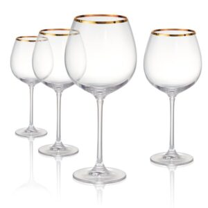 Gold Rim Wine Glasses
