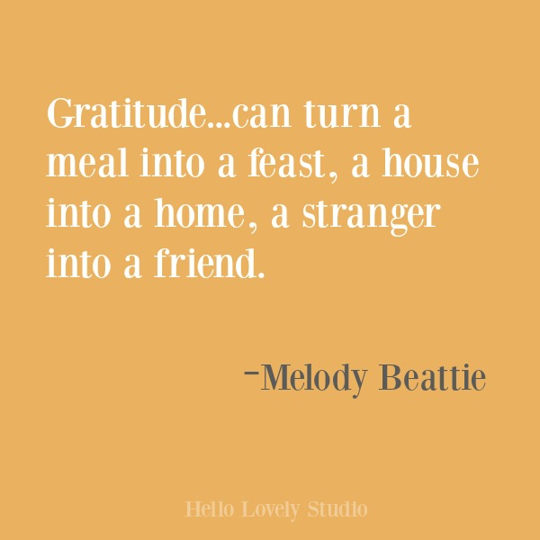 Inspirational quote about gratitude on Hello Lovely Studio. #gratitude #inspirational #quotes #melodybeattie
