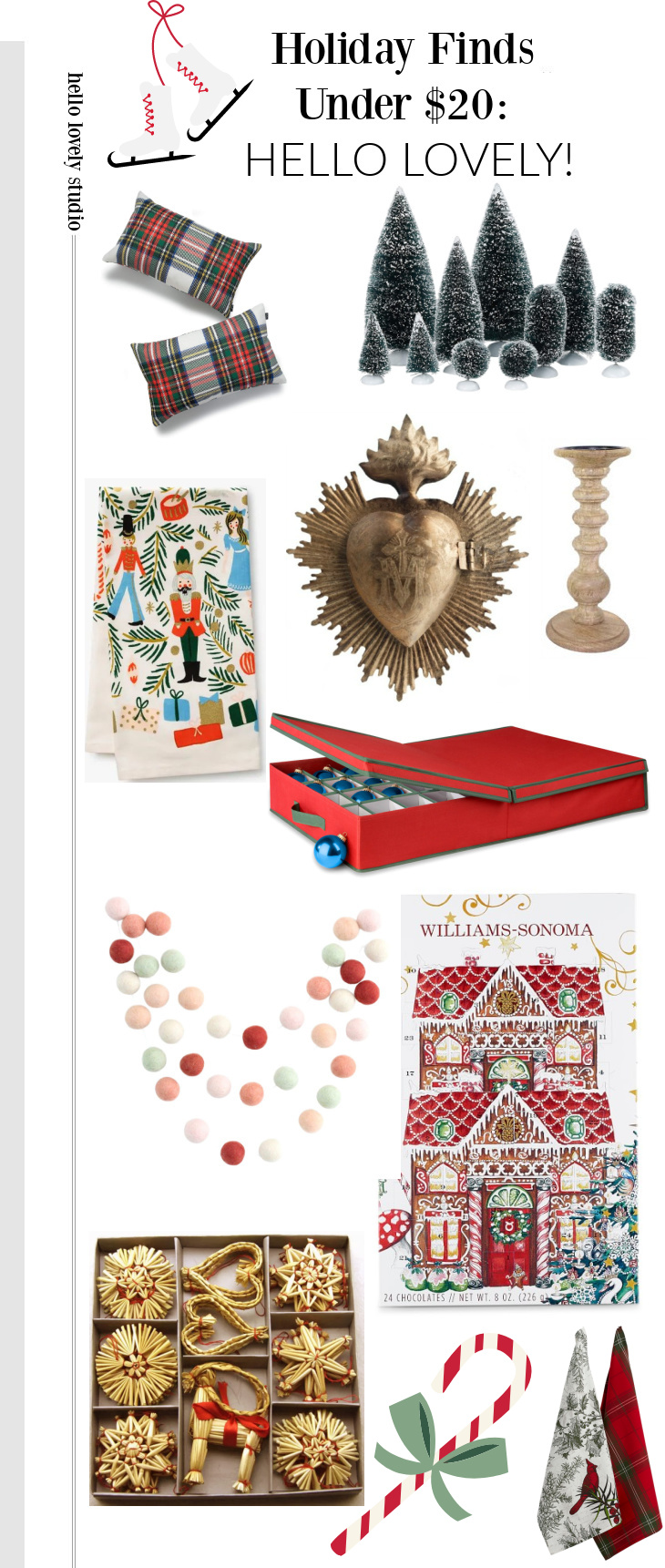Holiday finds uncer $20 on Hello Lovely Studio. #holidaydecor #christmasdecorating #onabudget