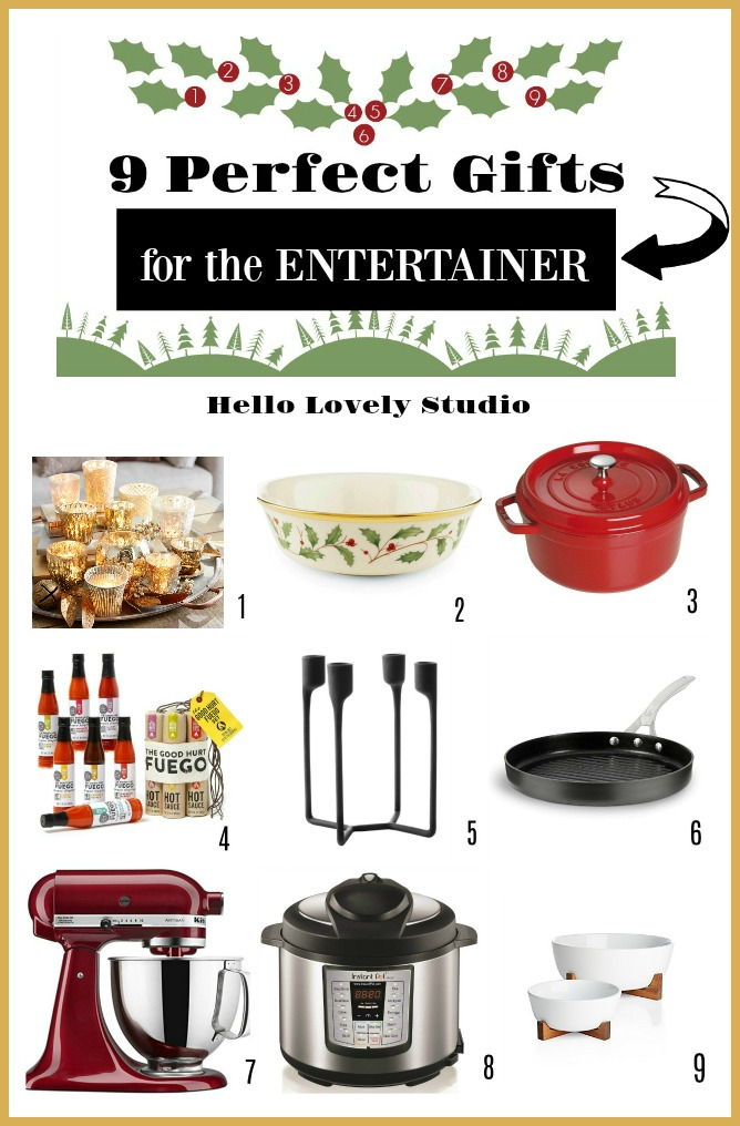 You'll love these 9 Awesome Gift Ideas for Folks Who Like to Entertain plus a bunch of holiday entertaining essentials! #entertaining #giftguide #holidaygiftguide