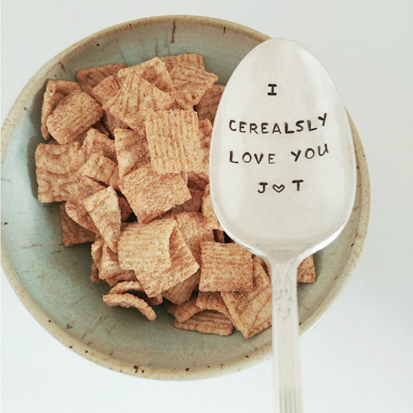 Personalized Cerealsy Love You Spoon