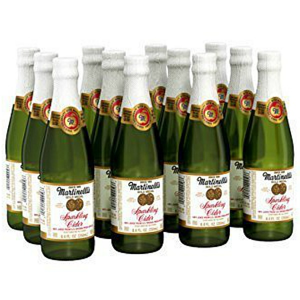 Martinelli's Gold Medal Sparkling Apple Cider in 8.4 oz bottles - 12 pack. Thanksgiving Dinner Menu Ideas & Winning Recipes to Plan and PIN.