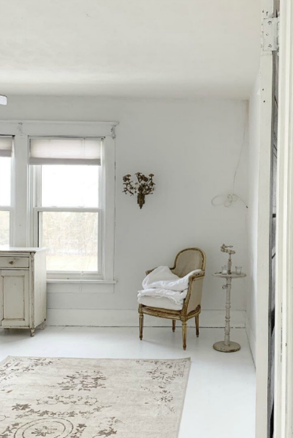 Serene and Scandinavian style in a cottage bedroom by My Petite Maison.