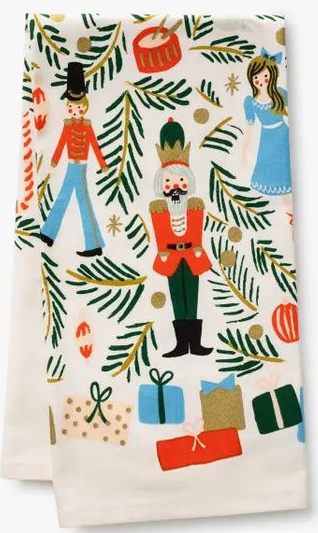 Nutcracker Christmas towel by Rifle Paper Co.