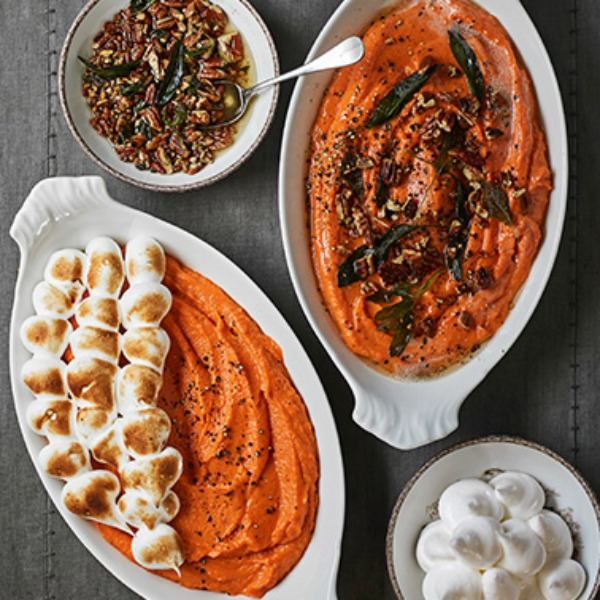 Yummy sweet potato side dishes for the Thanksgiving feast! #thanksgivingmenu #sweepotatoes