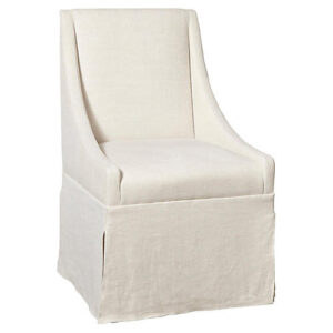 Ivory Linen Dining Chair