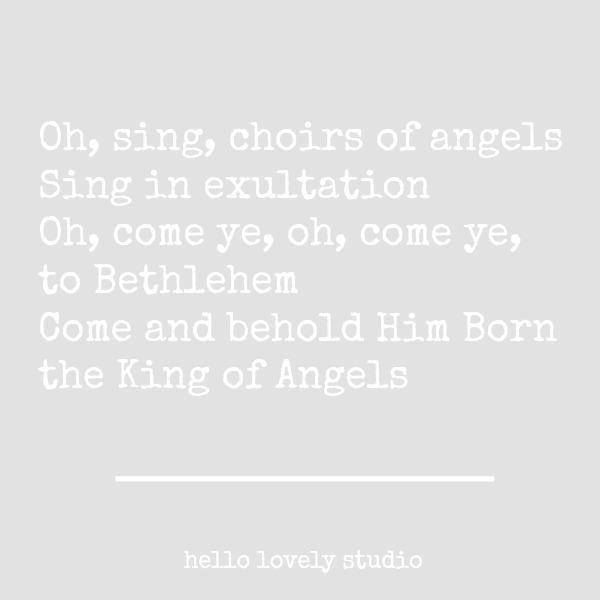 "Lyrics from ""Oh Come All Ye Faithful"" Christmas hymn song. #inspirationalquote #christmasquote #lyric #christmassong"