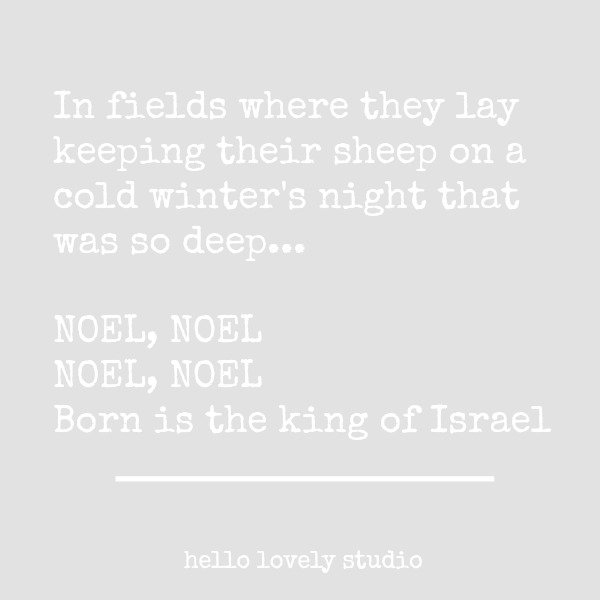 "Song lyrics from the Christmas hymn ""Noel."" #inspirationalquote #christmasquote #lyric #noel #holidayquote"