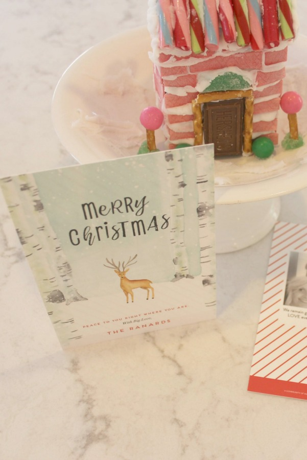 My holiday card from Minted and pink candy house for Christmas - Hello Lovely Studio.