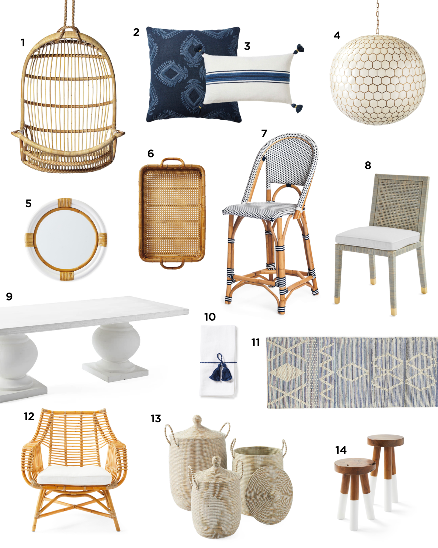 Serena and Lily decor finds - mood board.