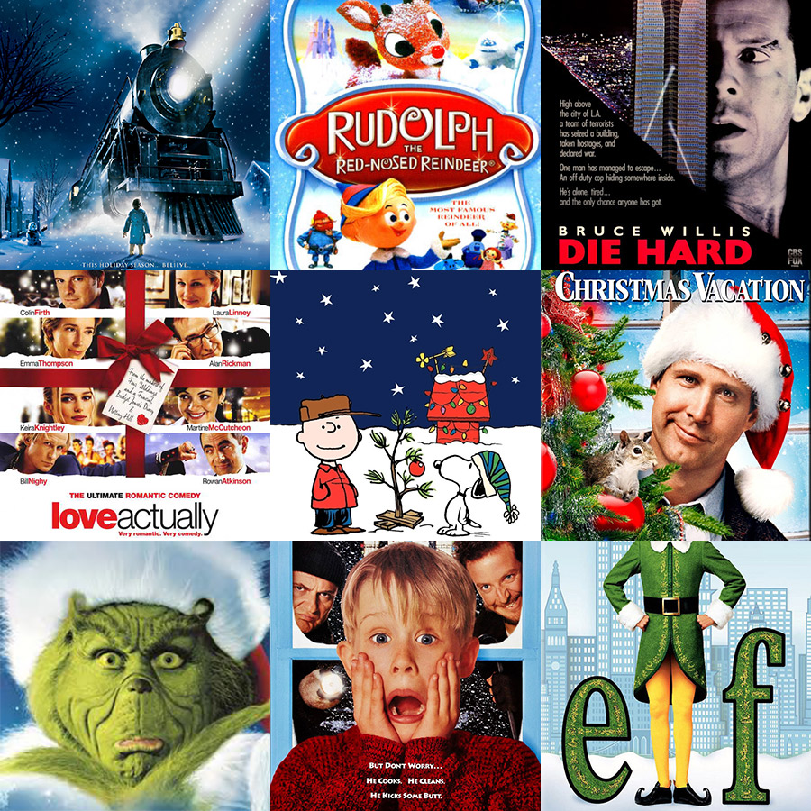Christmas movies grid
