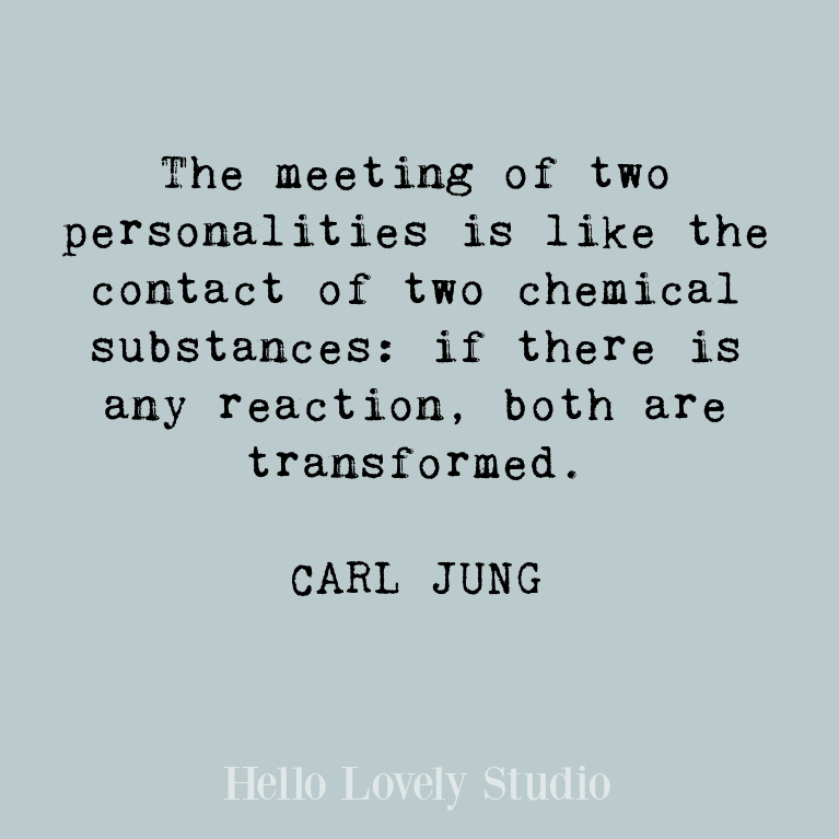Carl Jung quote about transformation. #quotes #carljung #lovequote #transformation