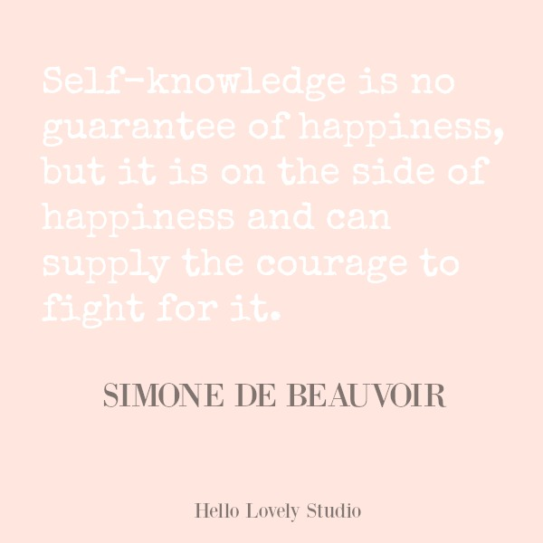 Inspirational quote from Simone de Beauvoir on Hello Lovely Studio. #hellolovelystudio #quotes #inspirationalquote