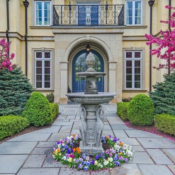 Magnificent French country mansion in Hinsdale, Illinois.