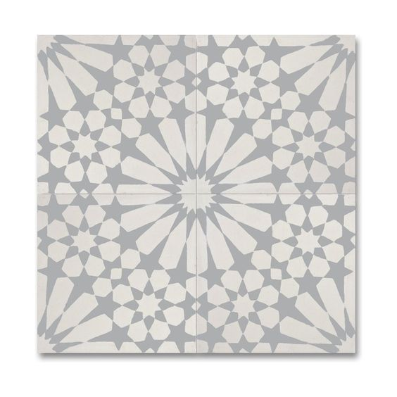 Agdal handmade tile in light grey - a gorgeous modern farmhouse style tile for European country kitchens. #handmadetile #modernfarmhouse #greyandwhite #tile