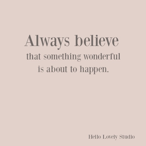 Inspirational quote of encouragement to hope on hello lovely studio. #quotes #inspirationalquote #hope #encouragement