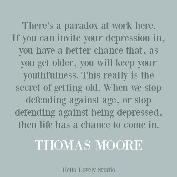 Thomas Moore quote about struggle. #inspirationalquotes #despairquotes #depressionquotes