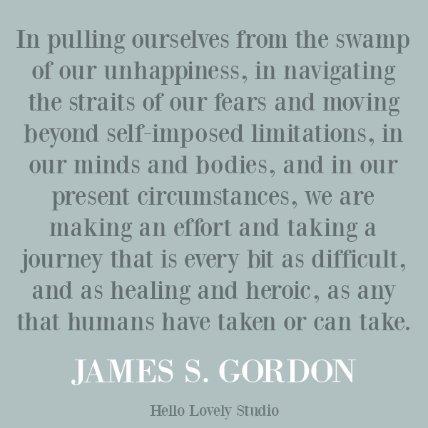 James Gordon quote about struggle and despair on Hello Lovely Studio. #strugglequotes #emotionalwellness #depressionquote