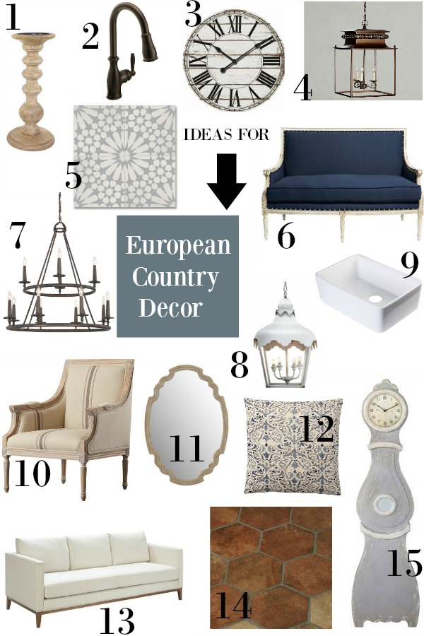 European country decor hello lovely studio interior design mood board. Come see 15 Lovely European Country Inspired Decorating Ideas for Home! #europeancountry #interiordesign #hellolovelystudio #decoratingideas #frenchfarmhouse #homedecor
