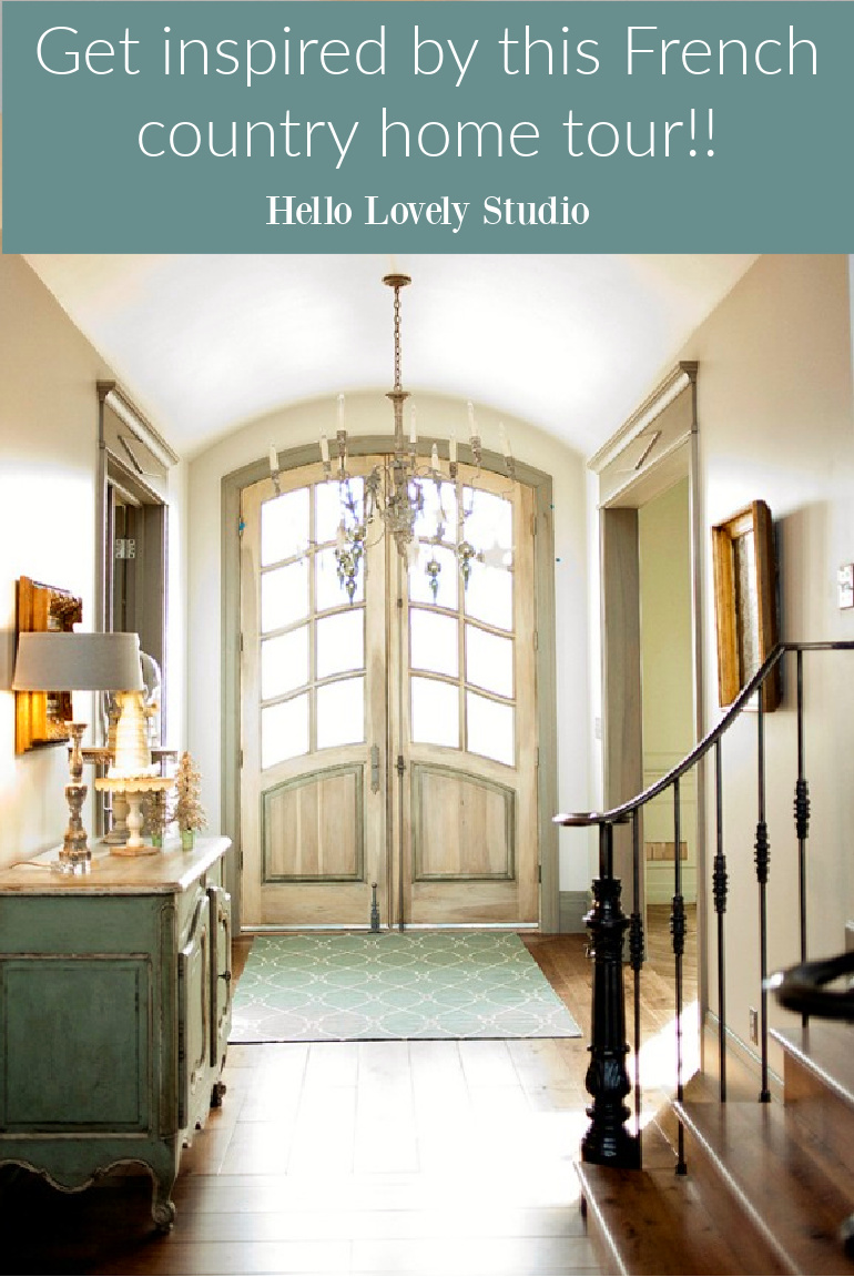 Get inspired by this French country home tour on Hello Lovely Studio.