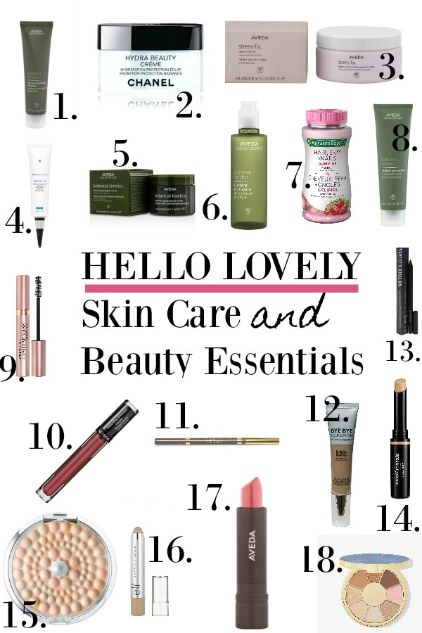 Skin care and beauty essentials winter 2020 - Hello Lovely Studio.