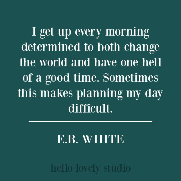 Funny E. B. White quote on Hello Lovely Studio. #funnyquotes #humor #quotes #ebwhite