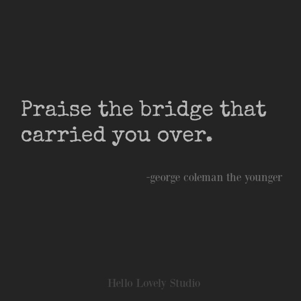 Inspirational quote about gratitude on Hello Lovely Studio. #inspirationalquote #gratitude