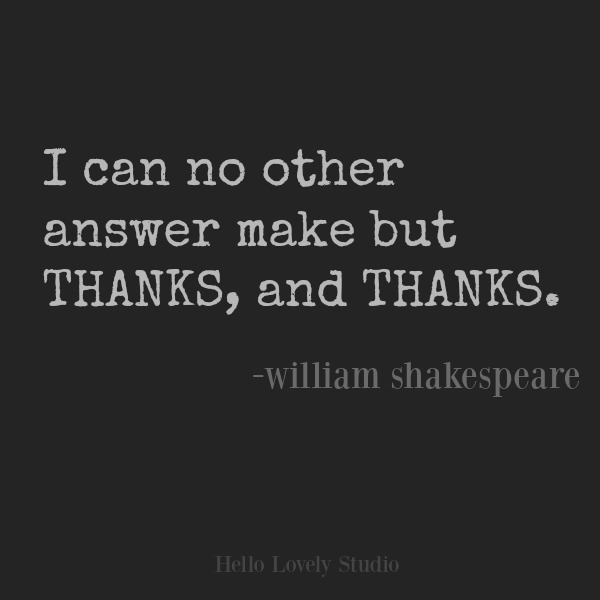 Shakespeare quote about gratitude. #inspirationalquote #gratitude #shakespeare #quotes