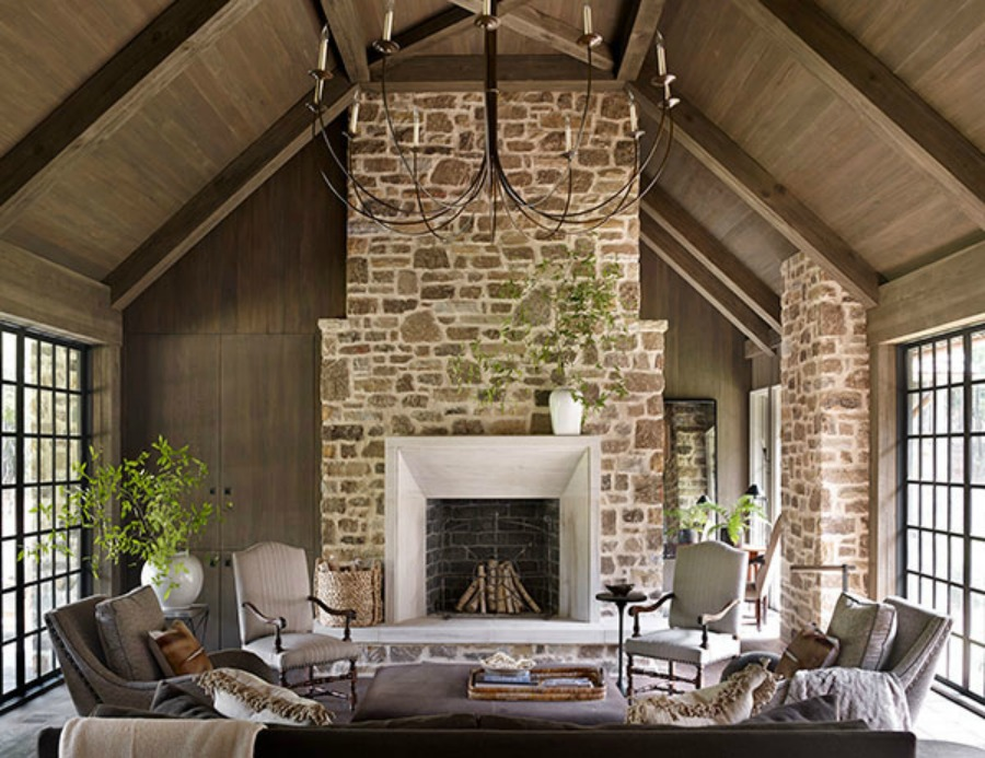 Timeless architecture and design by Atlanta-based Jeffrey Dungan who mixes rustic with elegant in luxury home design. #architecture #luxuryhome #jeffreydungan #timelessdesign #sophisticateddesign
